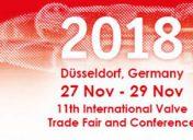 Valve World 2018 | 27 – 29 Novembre | Dussseldorf
